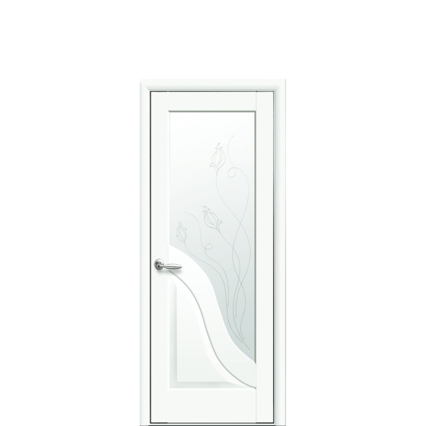 Амата со стеклом сатин и рисунком R2