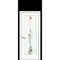Волна со стеклом сатин и рисунком R1